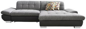 WOHNLANDSCHAFT in Anthrazit, Grau Textil - Chromfarben/Anthrazit, Design, Textil (290/198cm) - XORA