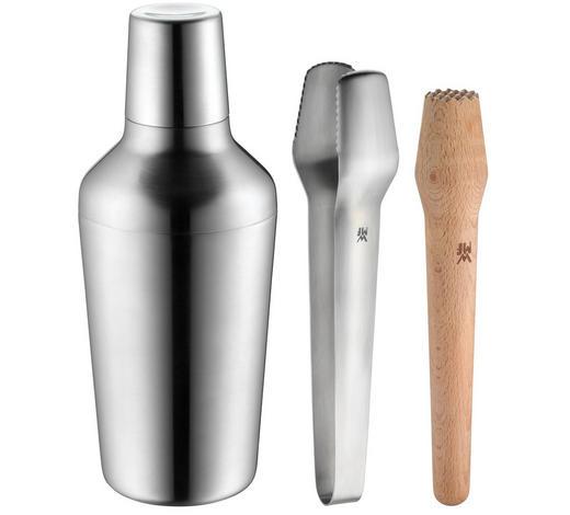 BARSET - Silberfarben/Braun, Design, Holz/Metall (10/10/24cm) - WMF