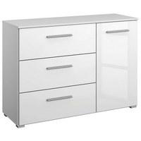 SIDEBOARD Hochglanz, Wasserlack Weiß  - Alufarben/Weiß, Design, Holzwerkstoff/Kunststoff (116/81/42cm) - Carryhome