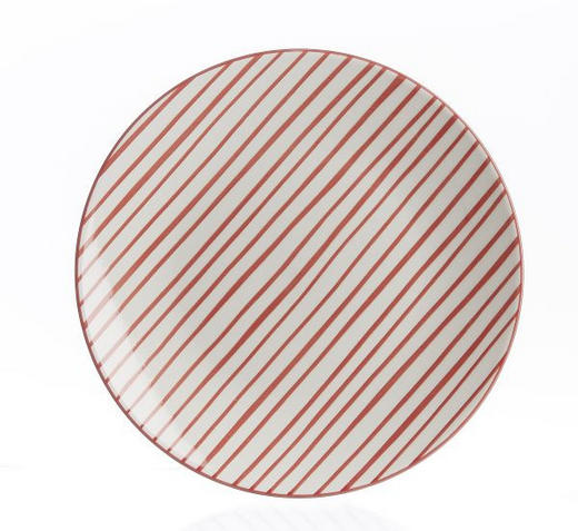 SPEISETELLER - Rot/Weiß, Basics, Keramik (26cm) - Landscape
