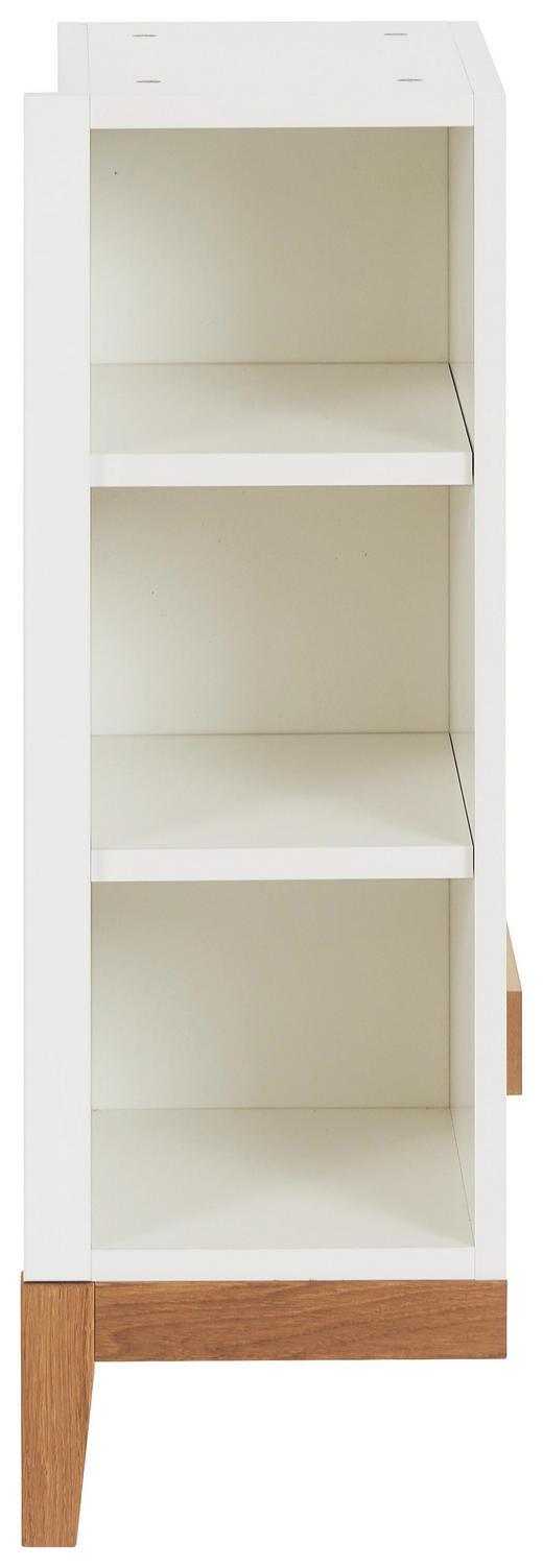 BABYUNTERSTELLREGAL Scandic Eiche Eichefarben, Weiß - Eichefarben/Weiß, Design, Holz/Holzwerkstoff (27,6/82/37cm) - Jimmylee