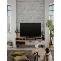 KOMODA - NISKA   160,3/53/35 cm   antracit, bijela, boje hrasta, svijetlo siva   - bijela/boje hrasta, Moderno, drvni materijal/metal (160,3/53/35cm) - Carryhome