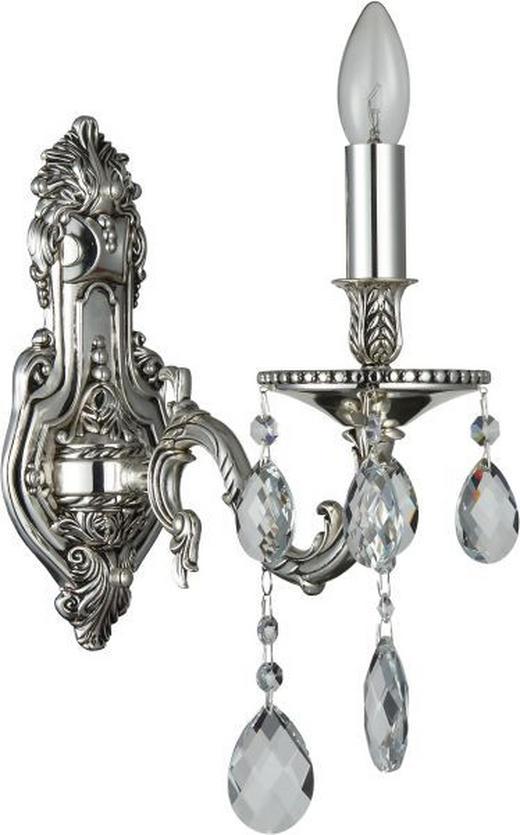 WANDLEUCHTE - Silberfarben, LIFESTYLE, Metall (27/42cm) - Glandor