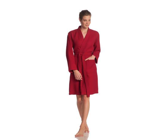 BADEMANTEL XS  - Rot, Basics, Textil (XSnull) - Vossen