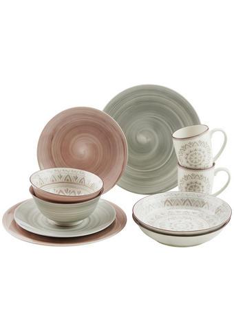 Kombiservice - Braun/Grau, Konventionell, Keramik - Ritzenhoff Breker