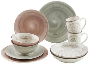 KOMPLETT SERVIS - brun/grå, Klassisk, keramik - Ritzenhoff Breker