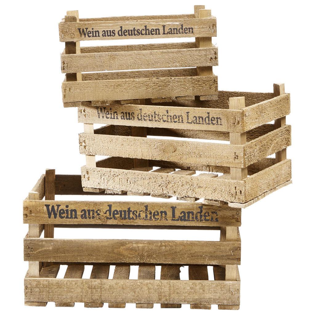 XXXLutz Weinkisten-set 3-teilig