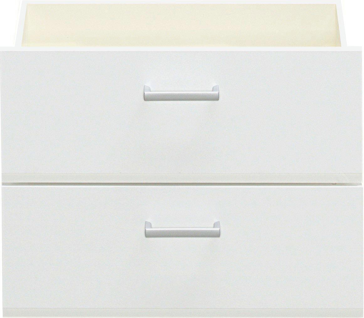 SCHUBKASTENEINSATZ Weiß - Weiß, Design (51/38/32cm) - CS SCHMAL