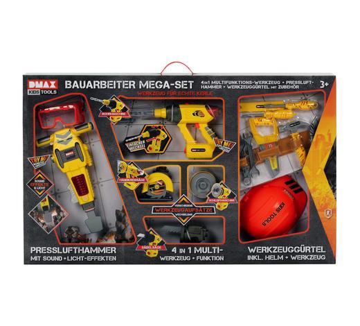 BAUARBEITER-MEGA-SET - Gelb/Orange, KONVENTIONELL, Kunststoff