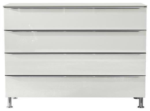 KOMMODE - Alufarben/Weiß, Design, Glas/Holzwerkstoff (120/87,6/40,4cm) - Hülsta
