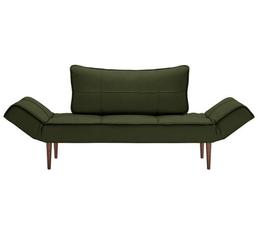 SCHLAFSOFA in Textil Dunkelgrün - Dunkelgrün/Dunkelbraun, Design, Holz/Textil (200/81/70cm) - Innovation