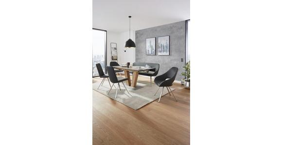 ESSTISCH rechteckig Graphitfarben, Eichefarben  - Eichefarben/Graphitfarben, KONVENTIONELL, Holzwerkstoff/Kunststoff (160(200)/90/77cm) - Voleo