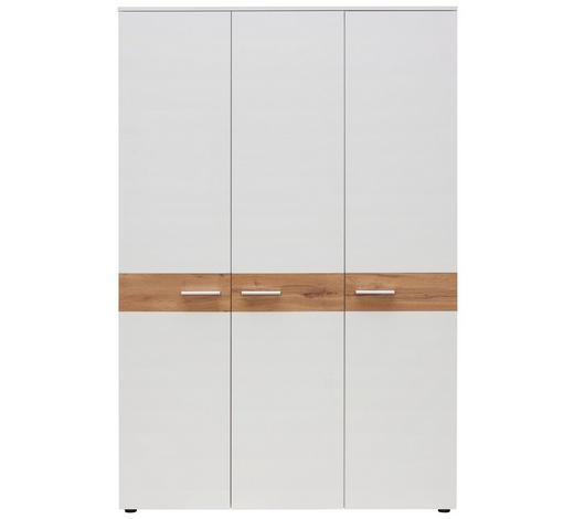 BABYKLEIDERSCHRANK Summer - Eichefarben/Silberfarben, Basics, Holzwerkstoff/Kunststoff (131/200/54cm) - My Baby Lou