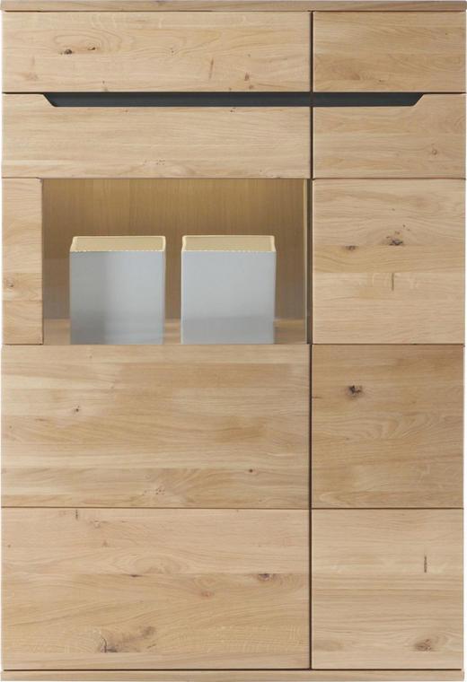 HIGHBOARD Wildeiche massiv geölt Eichefarben - Eichefarben, Design, Holz (90/134,4/39,4cm) - Linea Natura