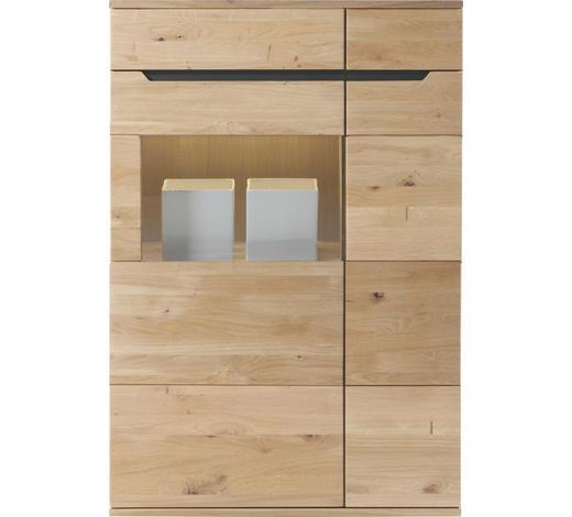 HIGHBOARD Wildeiche massiv geölt - Eichefarben, Design, Holz (90/134,4/39,4cm) - Linea Natura