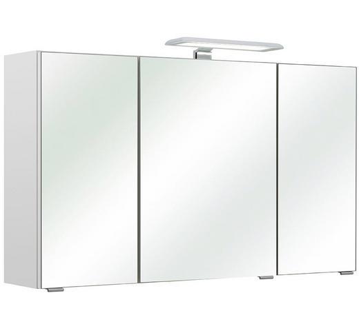 SPIEGELSCHRANK Weiß  - Chromfarben/Weiß, Basics, Glas/Holzwerkstoff (95/57/20cm) - Carryhome