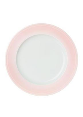 MATTALLRIK - vit/ljusrosa, Basics, keramik (28,1cm) - Novel