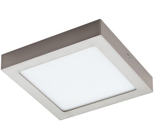 AUFBAULEUCHTE LED-Leuchtmittel - Weiß/Nickelfarben, Basics, Kunststoff/Metall (22,5/22,5/4cm)