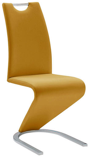 SVIKTSTOL - kromfärg/gul, Design, metall/textil (45/102/62cm)