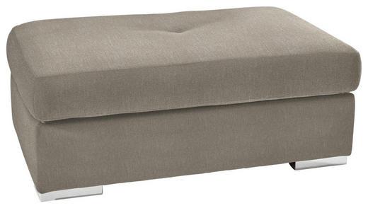 HOCKER in Textil Beige - Chromfarben/Beige, KONVENTIONELL, Kunststoff/Textil (118/46/67cm) - Carryhome