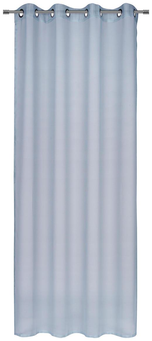 ÖSENVORHANG transparent - Blau, KONVENTIONELL, Textil (140/245cm) - Esposa