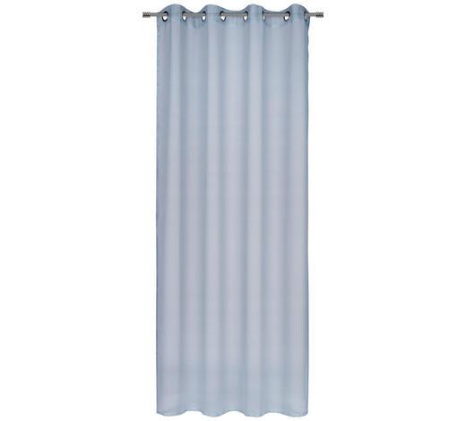 ZAVJESA S RINGOVIMA - plava, Konvencionalno, tekstil (140/245cm) - Esposa