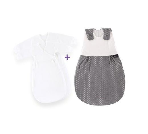 BABYSCHLAFSACKSET LIEBMICH - Weiß/Grau, Basics, Textil (82cm) - Träumeland