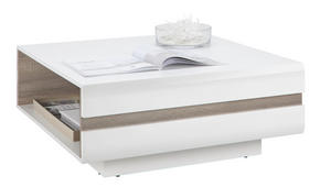 SOFFBORD - vit/färg tryffelek, Design, träbaserade material (90/38/90cm) - Carryhome