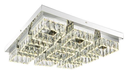 LED-TAKLAMPA - kromfärg, Lifestyle, metall/glas (55/55/11cm)