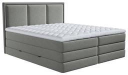 BOXSPRINGBETT 180/200 cm  in Taupe  - Taupe, Design, Kunststoff/Textil (180/200cm) - Xora
