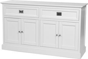 SIDEBOARD - vit/nickelfärgad, Lifestyle, metall/träbaserade material (145/85/45cm) - Rowico