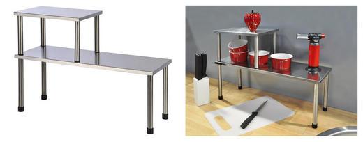 Küchenregal - Silberfarben, Basics, Metall (45/16/31cm)