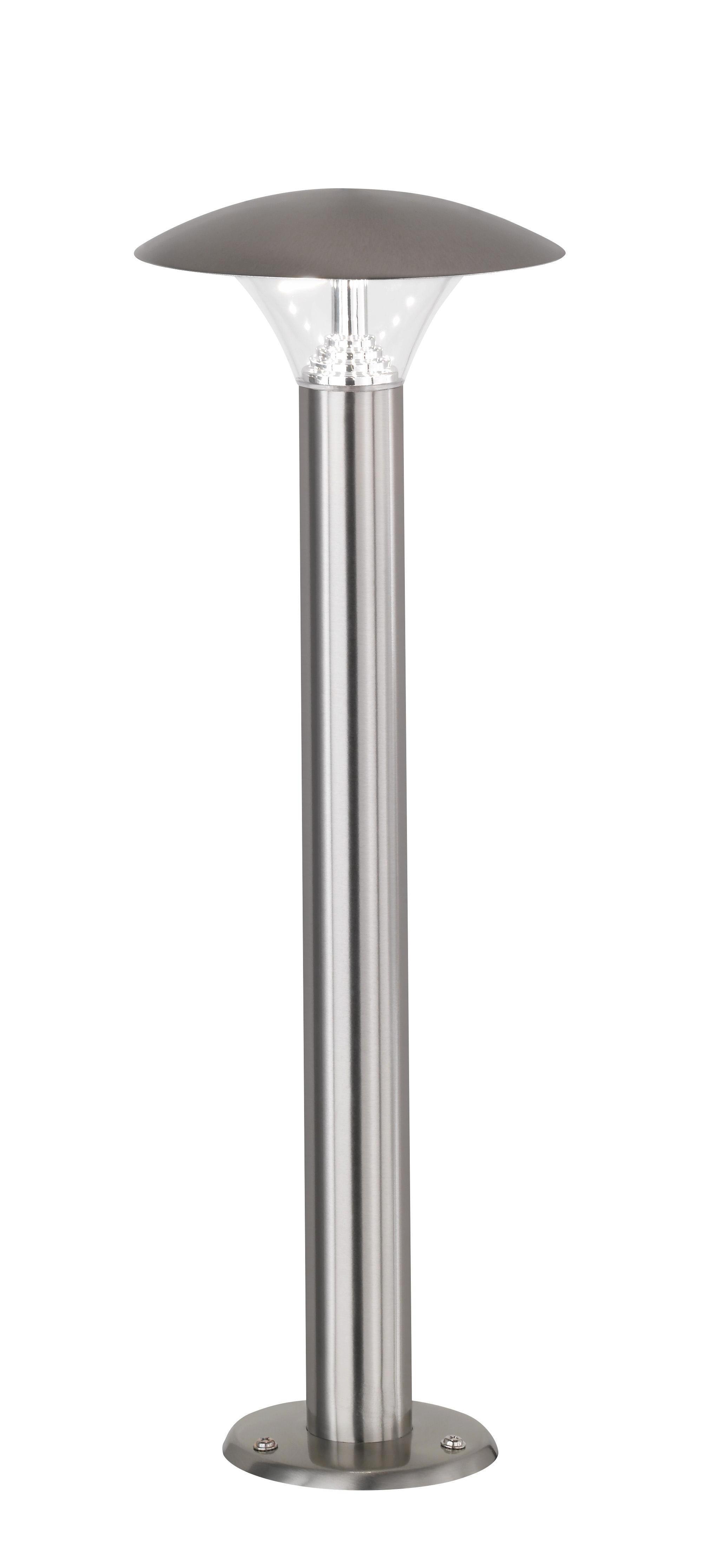 AUßENLEUCHTE - Edelstahlfarben, Design, Metall (15,5/45cm)