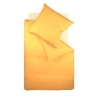 BETTWÄSCHE Makosatin Goldfarben 155/220 cm - Goldfarben, Basics, Textil (155/220cm) - Fleuresse