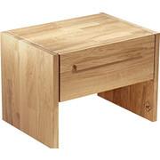 NACHTKÄSTCHEN in massiv Eiche Eichefarben - Eichefarben, Design, Holz (55/40/40cm) - WALDEN