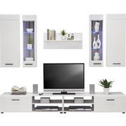 OBÝVACÍ STĚNA - bílá/černá, Design, dřevo/dřevěný materiál (240/190/45cm) - CARRYHOME
