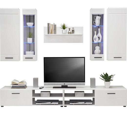 WOHNWAND Weiß  - Schwarz/Weiß, Design, Glas/Holz (240/190/45cm) - Carryhome