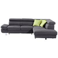 SEDEŽNA GARNITURA,  antracit tekstil  - zelena/krom, Moderno, kovina/tekstil (270/229cm) - Xora