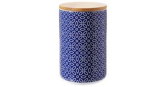 DÓZA NA POTRAVINY - bílá/modrá, Lifestyle, dřevo/keramika (12/18cm) - Landscape