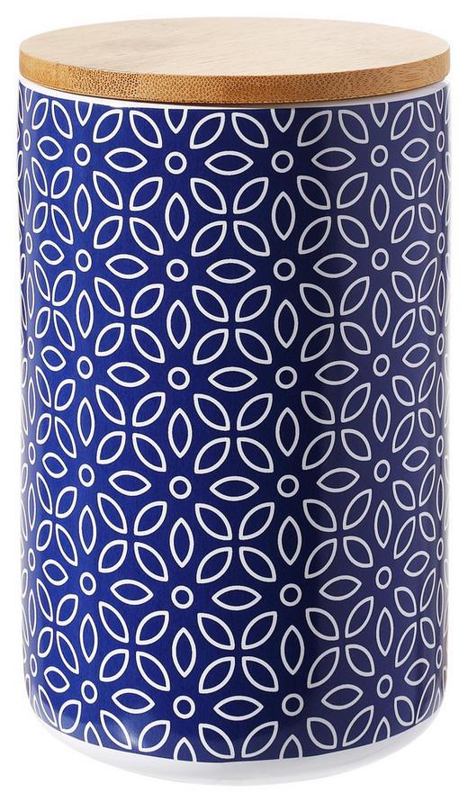 VORRATSDOSE  1.3 L - Blau/Braun, LIFESTYLE, Holz/Keramik (12 18 cm) - Landscape