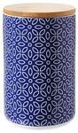 VORRATSDOSE 1.3 L  - Blau/Weiß, LIFESTYLE, Keramik/Holz (12/18cm) - Landscape