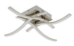 LED-TAKLAMPA - nickelfärgad, Klassisk, metall/plast (47,5/47,5/9,5cm) - Novel
