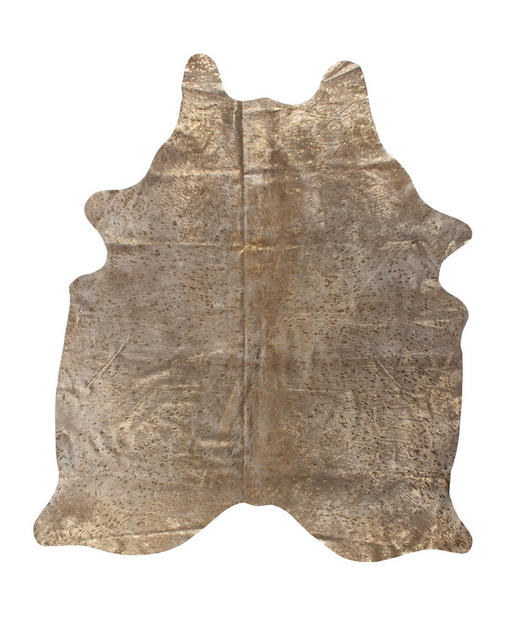 RINDERFELL - Beige/Goldfarben, Design, Leder/Fell (1,60/2,50/cm) - Linea Natura