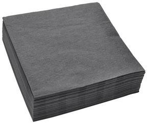 SERVETT - antracit, Basics, papper (41,5/41,5cm) - Xxxlpack