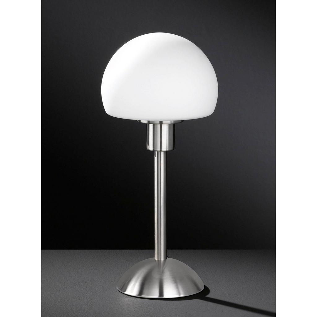 Tischlampe mit Glasschirm