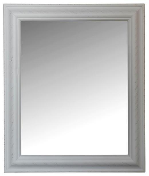 WANDSPIEGEL Weiß - Weiß, KONVENTIONELL, Glas/Holz (52/62/3cm)