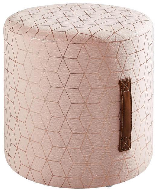 HOCKER Tanne Pink - Pink, Holz/Textil (35/35cm)