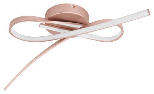LED-DECKENLEUCHTE - Goldfarben/Rosa, Design, Kunststoff/Metall (70,5/31,5/12,5cm)
