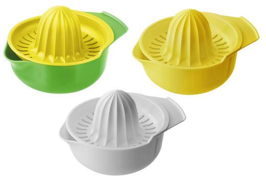 ZITRONENPRESSE - Gelb/Weiß, Basics, Kunststoff (12cm) - Fackelmann