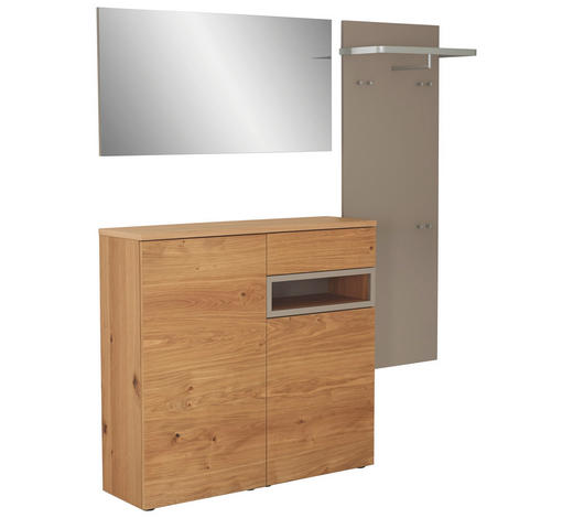 GARDEROBE - Eichefarben, Design, Holz/Holzwerkstoff (195/201/35cm) - Sudbrock
